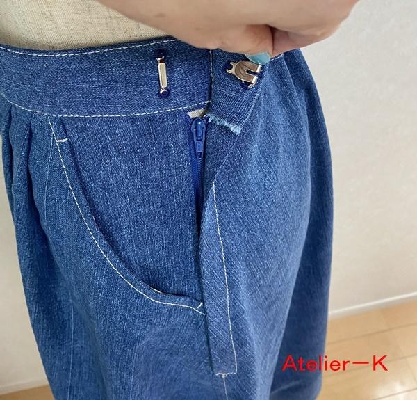 市販のスカートをコピーしました。_c0319009_14471668.jpg