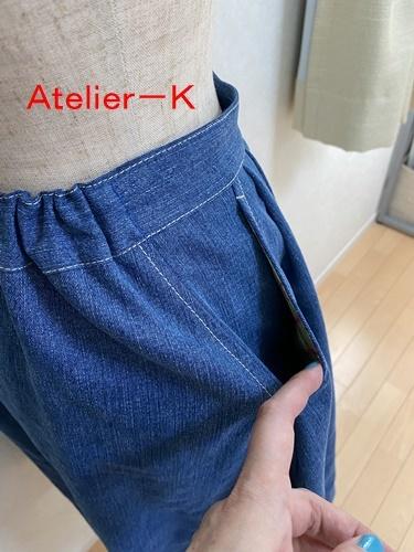 市販のスカートをコピーしました。_c0319009_14491020.jpg