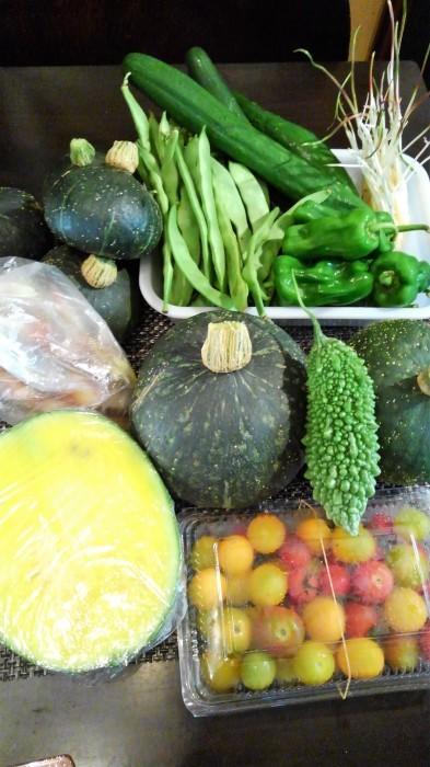 ■Myファーム便り【昨日収穫した畑の野菜です。娘夫婦に当日便で送りました♪】_b0033423_19193591.jpg
