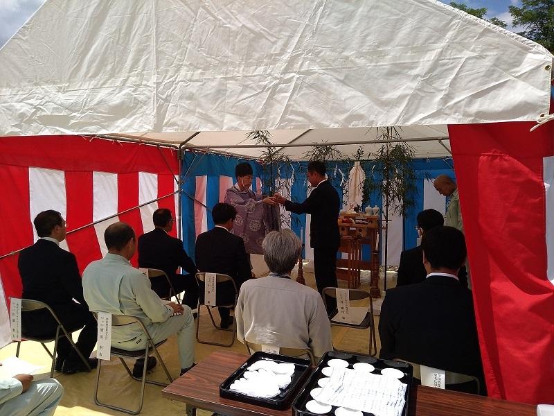 しいたけ栽培施設工事の地鎮祭が行われました_e0341538_15095579.jpg