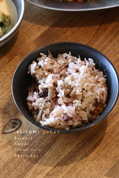 鮭の南蛮漬けと根菜炊き込み_e0137277_20301052.jpg
