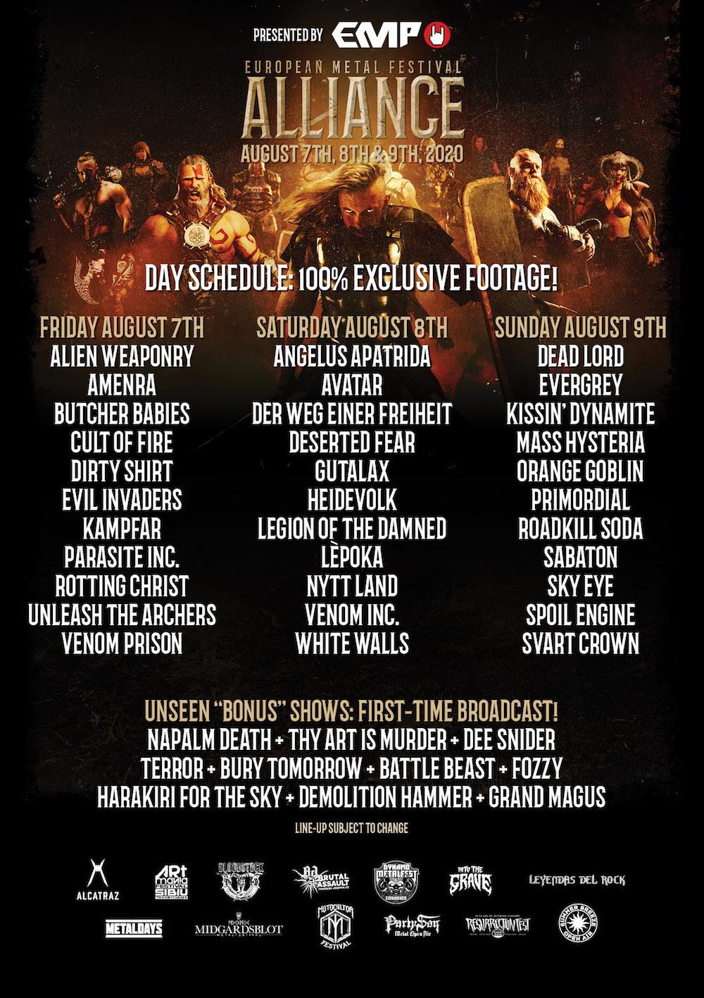European Metal Festival Alliance 2020 (オンラインイベント) が今週末に開催_b0233987_21231848.jpg