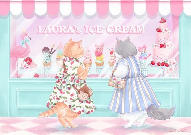 Lauraの猫イラスト 今日はどれにしようかな_d0025294_18355413.jpg