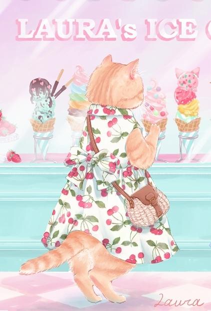 Lauraの猫イラスト 今日はどれにしようかな_d0025294_18362412.jpg