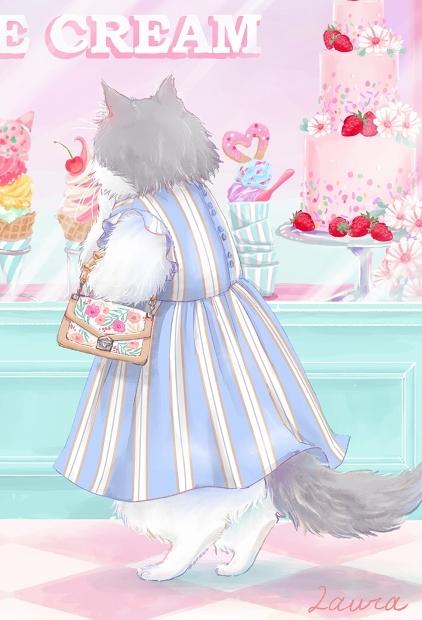 Lauraの猫イラスト 今日はどれにしようかな_d0025294_18364880.jpg