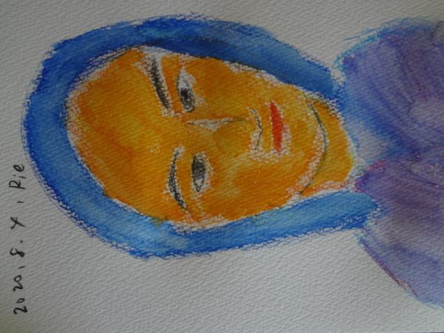 亡き友を描きました_f0375930_13560698.jpg