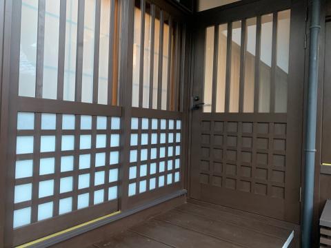お寺さんの建具です。豊科の「専念寺」の本堂の改修工事が終了しました。詳細は後日アップします。_c0202104_19142311.jpg