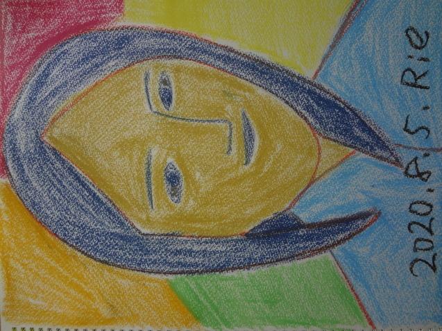 亡き友をパステルで描きました_f0375930_14052786.jpg