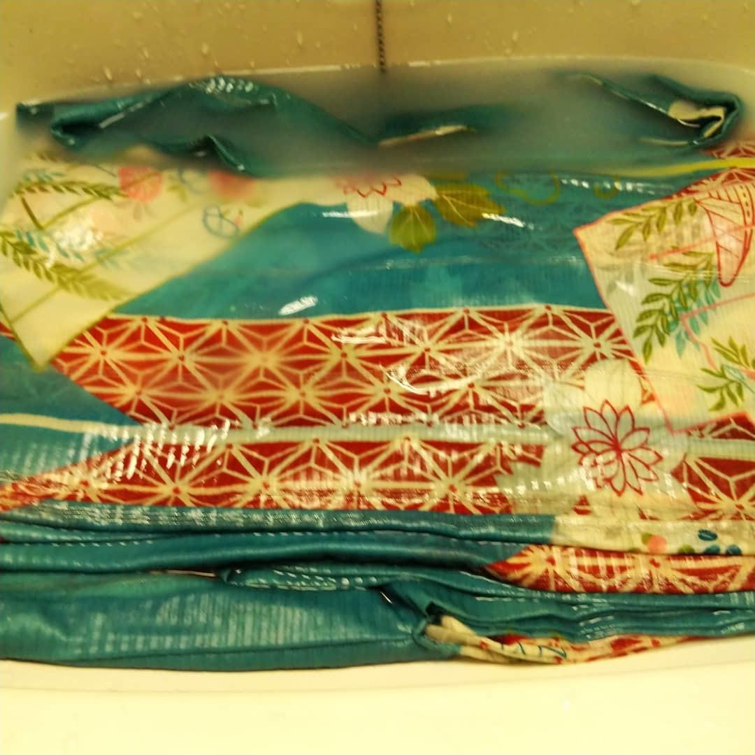 200805 アンティークの平絽の着物を手洗いしてみました着物姿_f0164842_19582271.jpg