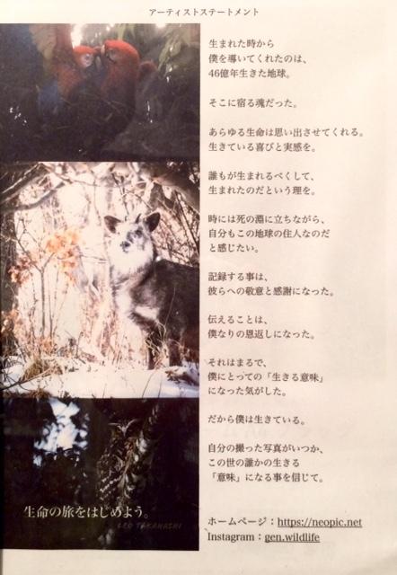 8月のミニギャラリーは、高橋 玲央さんです。_c0227664_16150897.jpg