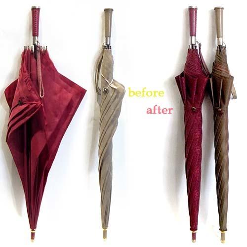 革が巻かれた素敵な雨傘が衣替え!_f0184004_14462752.jpg