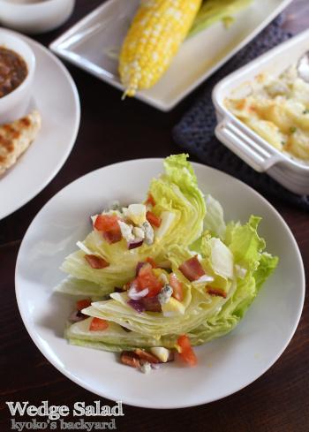 ブルーチーズが美味しいウェッジサラダと、野菜料理いろいろ_b0253205_09321652.jpg