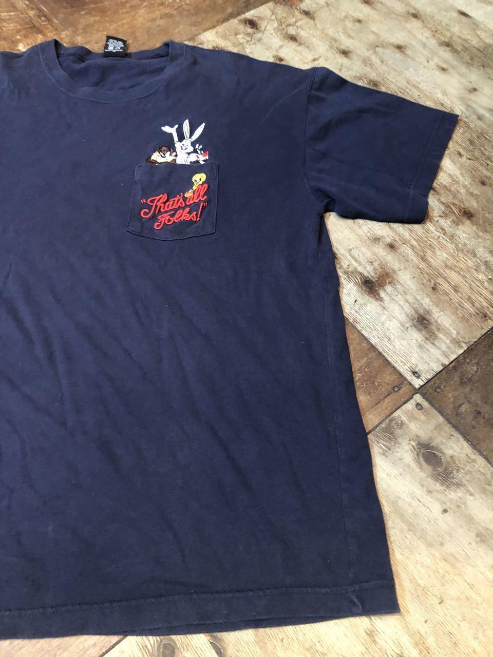 8月6日(木)入荷! ワーナー LOONEY TUNES ルーニーテューンズ  刺繍 ポケット Tシャツ _c0144020_12535054.jpg