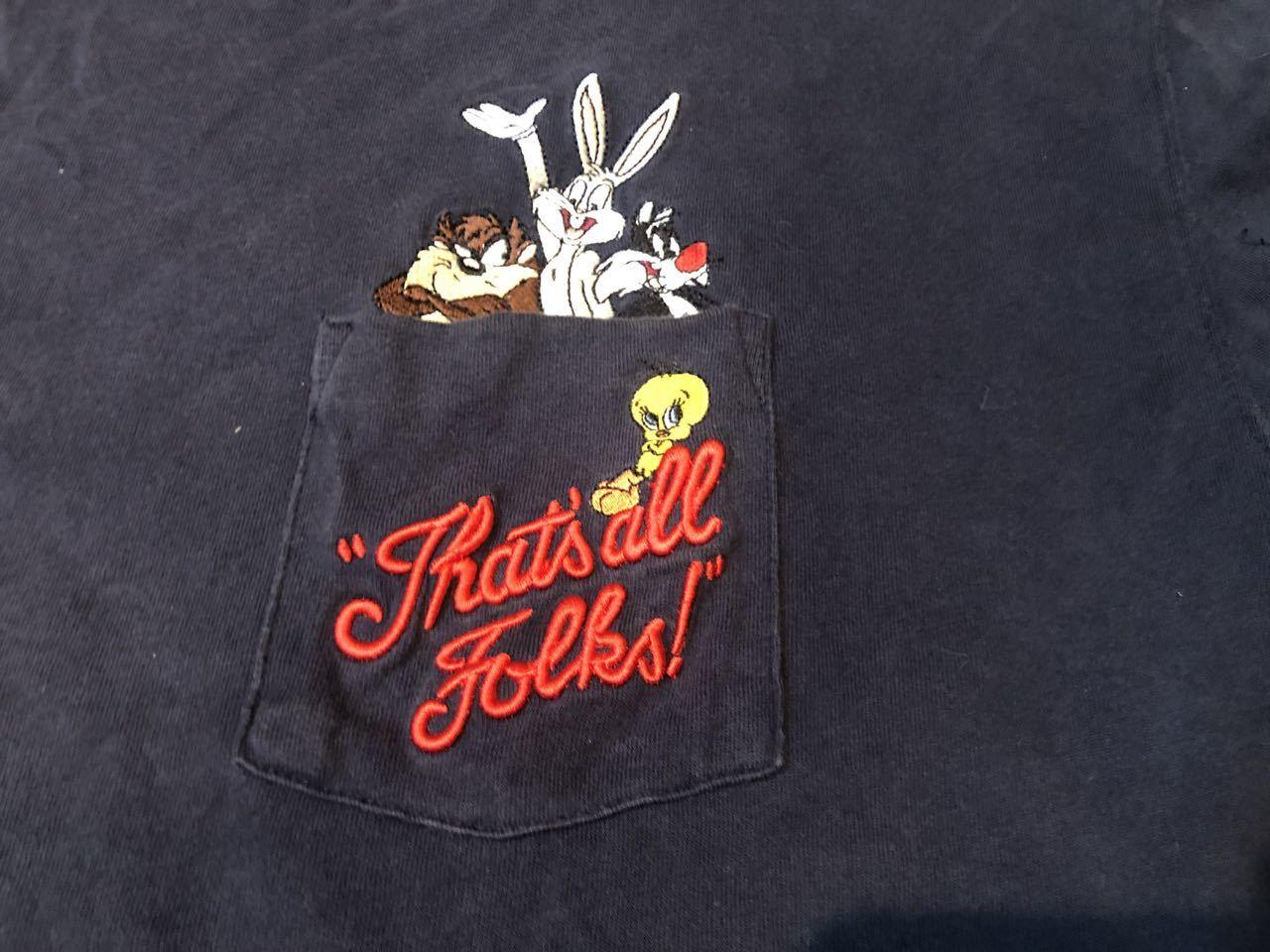 8月6日(木)入荷! ワーナー LOONEY TUNES ルーニーテューンズ  刺繍 ポケット Tシャツ _c0144020_12535348.jpg