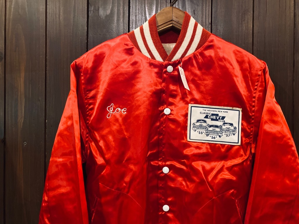 マグネッツ神戸店 8/8(土)Made in U.S.A. Nylon/Satin Varsity Jacket入荷! #3 Chain Stitch!!!_c0078587_15060225.jpg