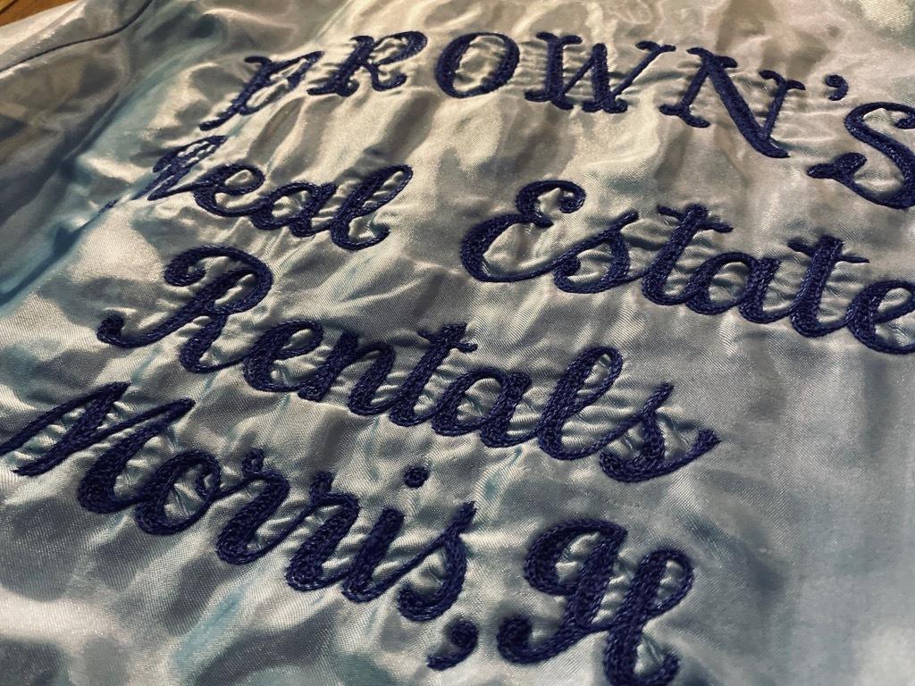 マグネッツ神戸店 8/8(土)Made in U.S.A. Nylon/Satin Varsity Jacket入荷! #3 Chain Stitch!!!_c0078587_15314639.jpg