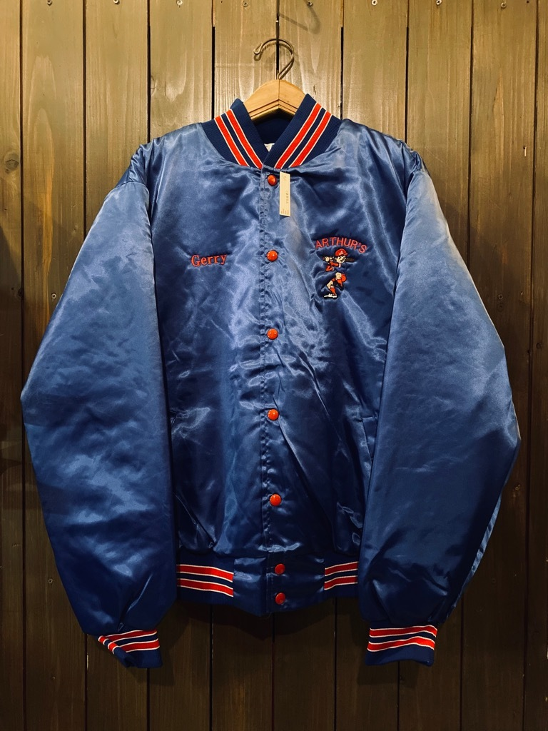 マグネッツ神戸店 8/8(土)Made in U.S.A. Nylon/Satin Varsity Jacket入荷! #3 Chain Stitch!!!_c0078587_15324592.jpg