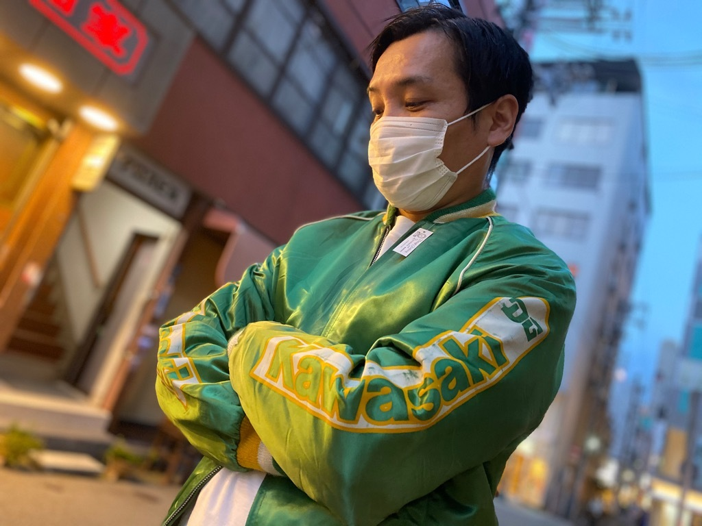 マグネッツ神戸店 8/8(土)Made in U.S.A. Nylon/Satin Varsity Jacket入荷! #1 Satin Varsity JKT!!!_c0078587_21133754.jpg