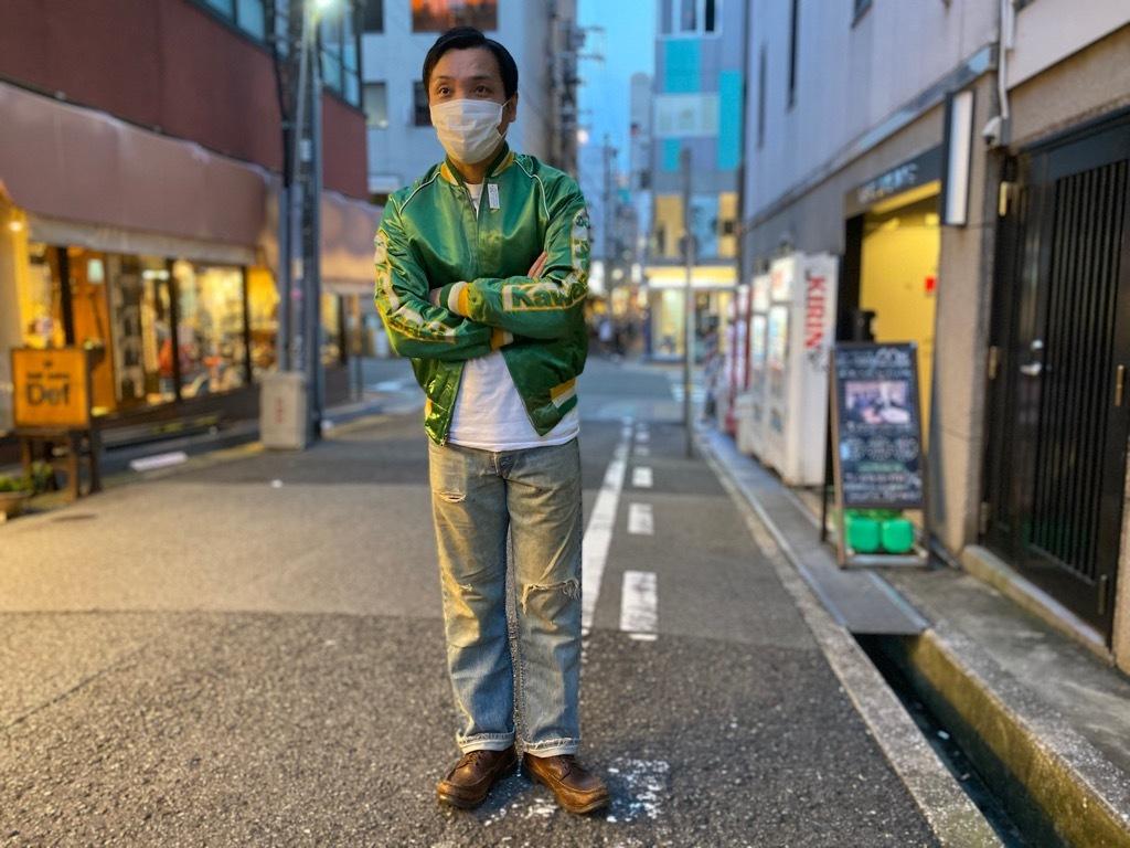 マグネッツ神戸店 8/8(土)Made in U.S.A. Nylon/Satin Varsity Jacket入荷! #1 Satin Varsity JKT!!!_c0078587_21133760.jpg