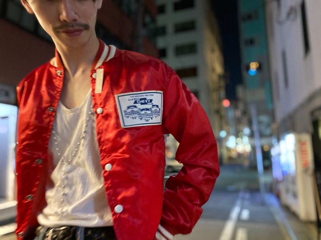 マグネッツ神戸店 8/8(土)Made in U.S.A. Nylon/Satin Varsity Jacket入荷! #1 Satin Varsity JKT!!!_c0078587_21133783.jpg