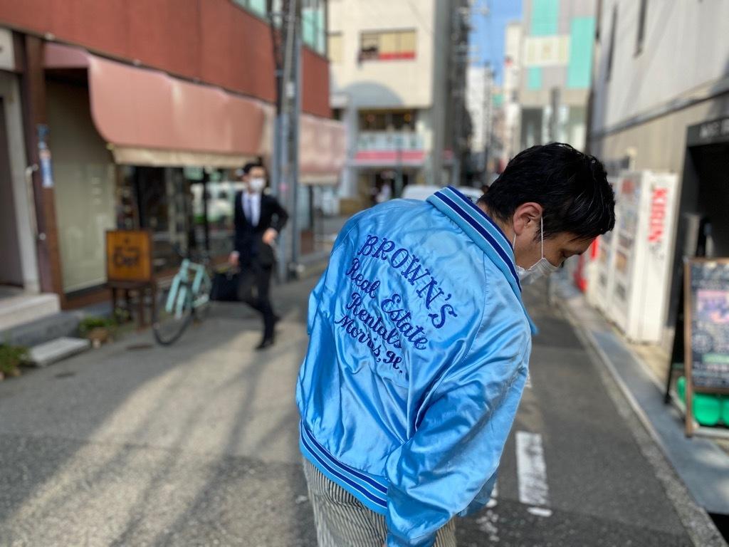 マグネッツ神戸店 8/8(土)Made in U.S.A. Nylon/Satin Varsity Jacket入荷! #3 Chain Stitch!!!_c0078587_21512743.jpg
