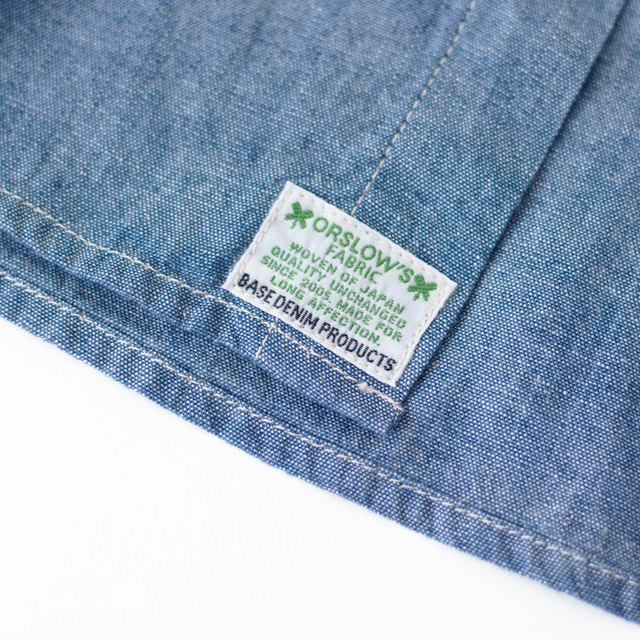 orslow [オアスロウ] M UTILITY WORK SHIRT CHAMBRAY [01-8063-84] ユーティリティー ワークシャツ ・シャンブレーシャツ・ MEN\'S _f0051306_15564062.jpg