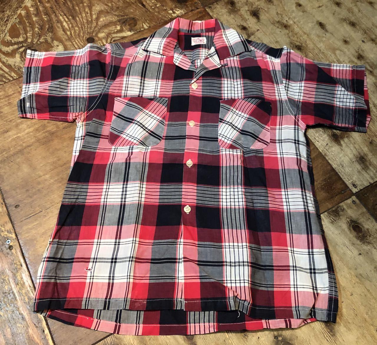 8月8日(土)入荷!50s all cotton オープンカラー ボックスシルエットシャツ!_c0144020_15112254.jpg