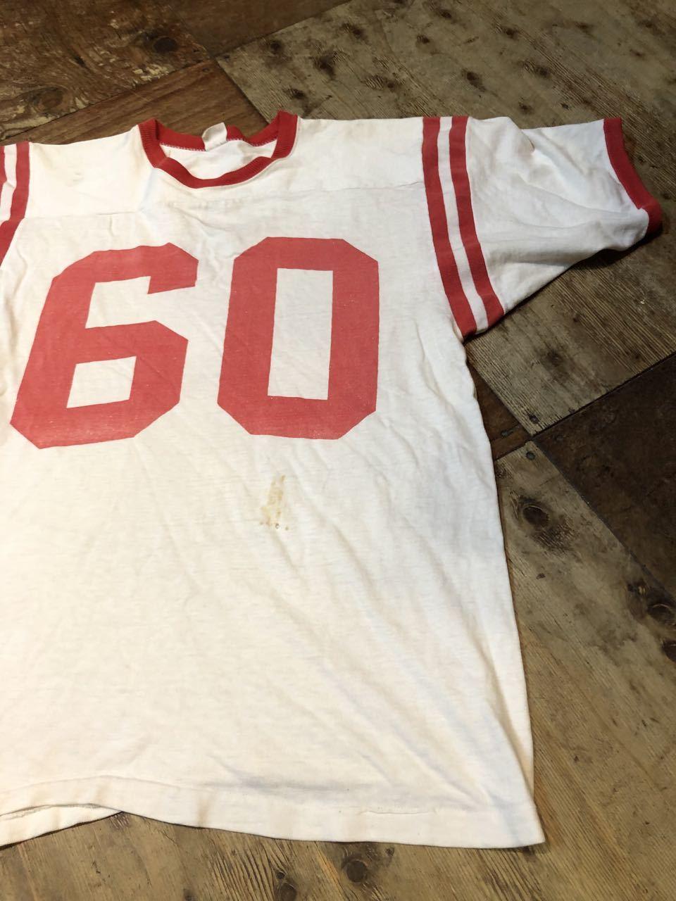 8月8日(土)入荷!60s 染み込みプリント!all cotton MASON Football T-shirts! /フットボール Tシャツ!_c0144020_15555880.jpg