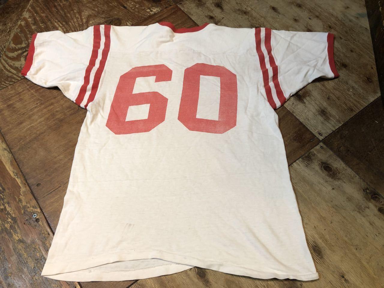 8月8日(土)入荷!60s 染み込みプリント!all cotton MASON Football T-shirts! /フットボール Tシャツ!_c0144020_16052594.jpg