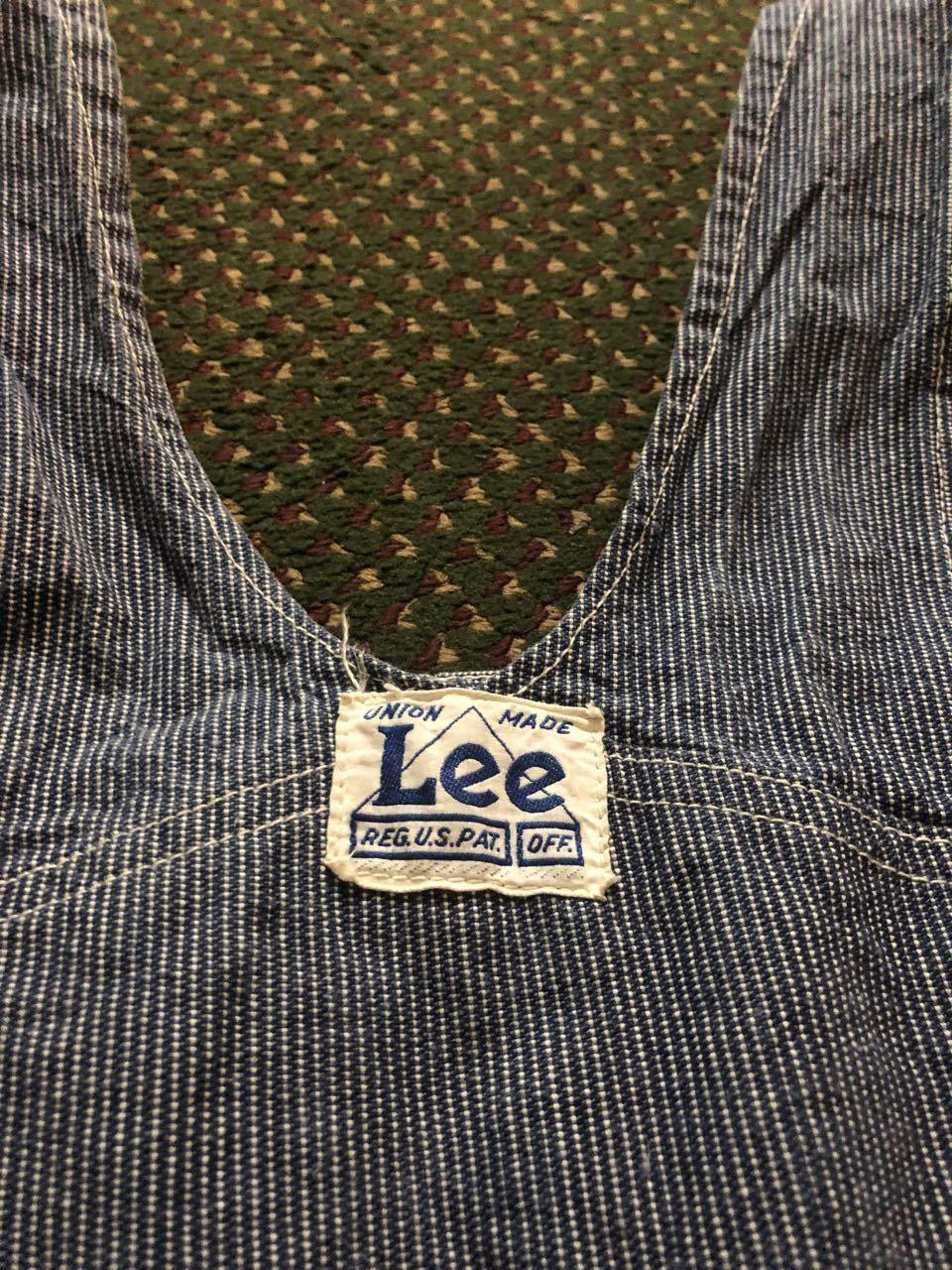 8月8日(土)入荷! 40s  Lee  ハウスマーク LONG L ピンストライプ オーバーオール!_c0144020_16212606.jpg
