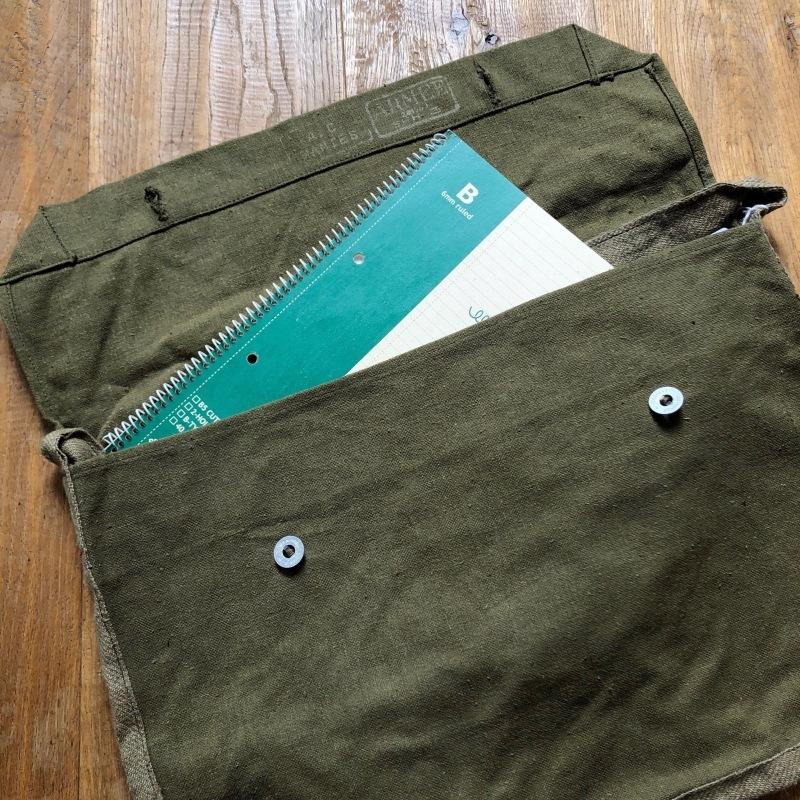 French Army Linen Bread Bag (Musette Bag) Dead Stock_f0370108_14110484.jpg