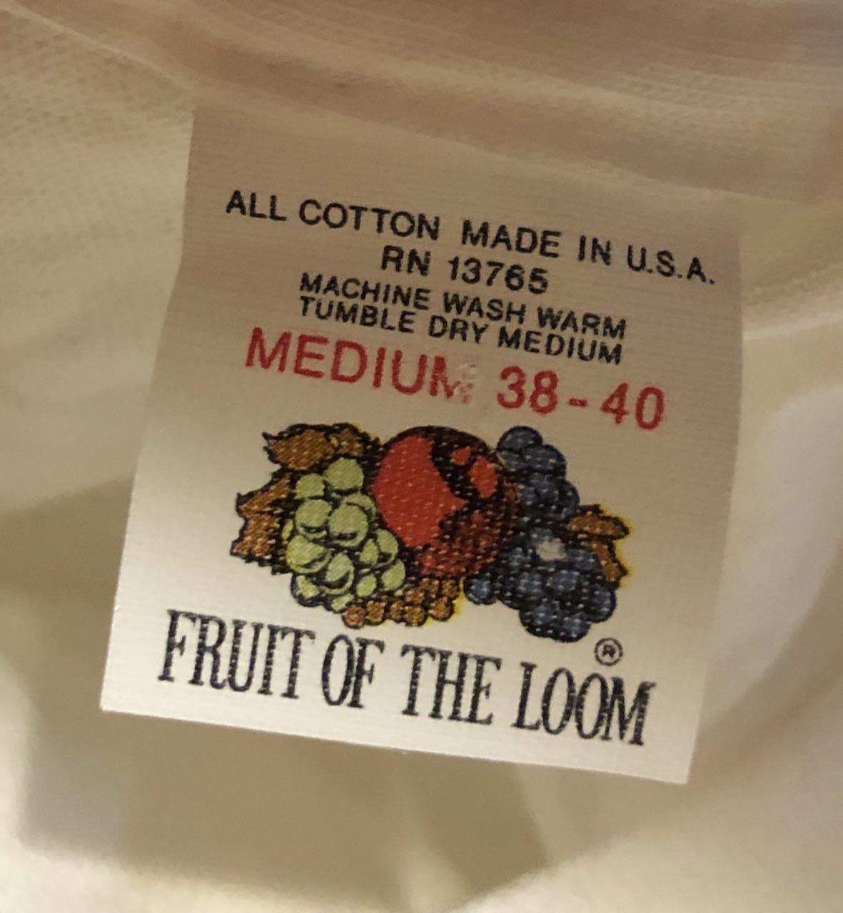 8月9日(日)入荷!80s デッドストック #1 MADE IN U.S.A fruits of the loom フルーツ オブ ザ ルーム Tシャツ!_c0144020_15404672.jpg