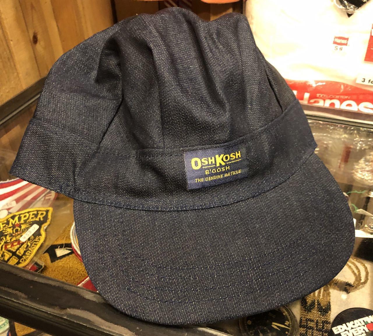 8月9日(日)入荷!80s デッドストック#3 DENIM OSH KOSH B\' GOSH ENGINEER CAP /WORK CAP _c0144020_16371139.jpg