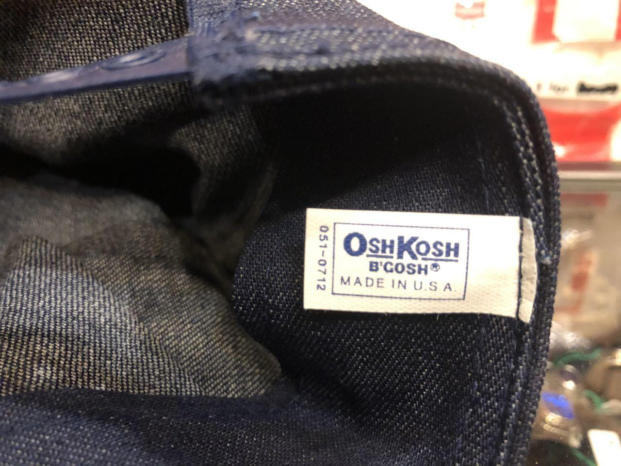 8月9日(日)入荷!80s デッドストック#3 DENIM OSH KOSH B\' GOSH ENGINEER CAP /WORK CAP _c0144020_16372580.jpg
