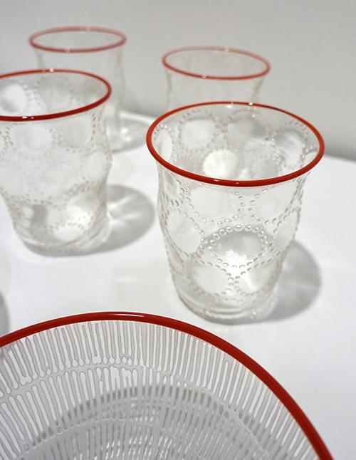 【平井睦美〜over the Table】夏の気分はレースのようなガラスで爽やかに!_a0017350_10213472.jpg