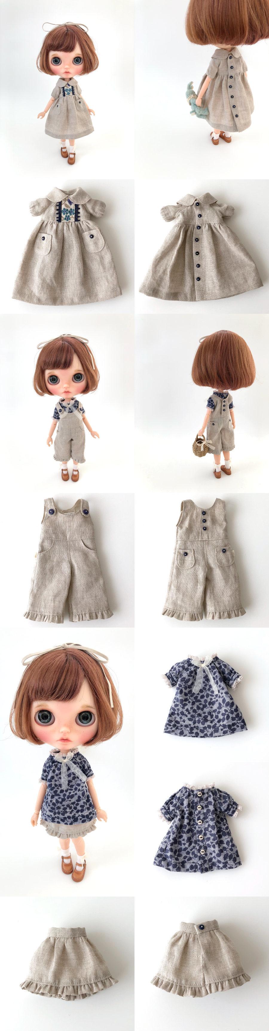 *lucalily * dolls clothes* Linen clothes set *_d0217189_15002638.jpg