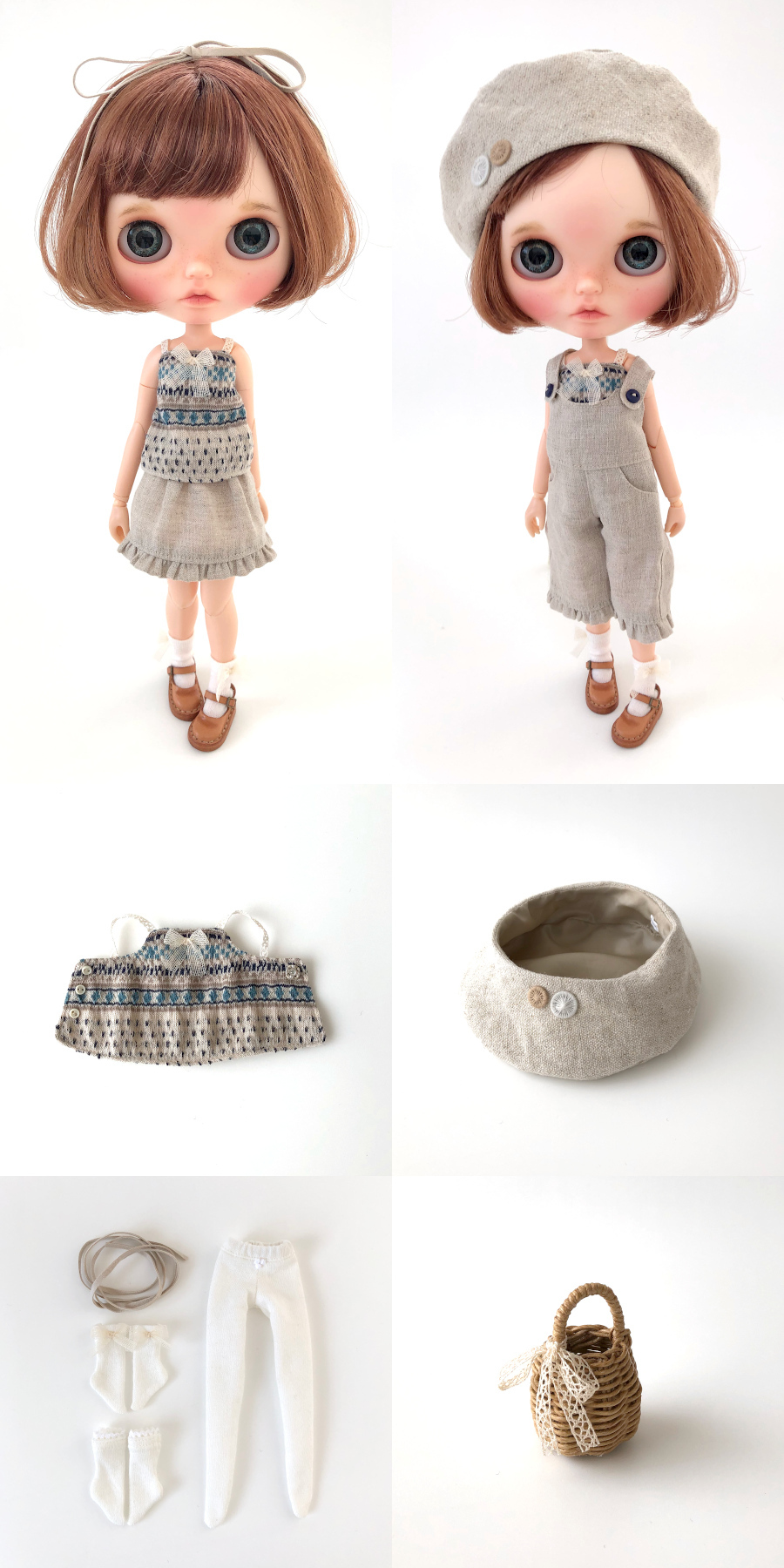 *lucalily * dolls clothes* Linen clothes set *_d0217189_15012967.jpg