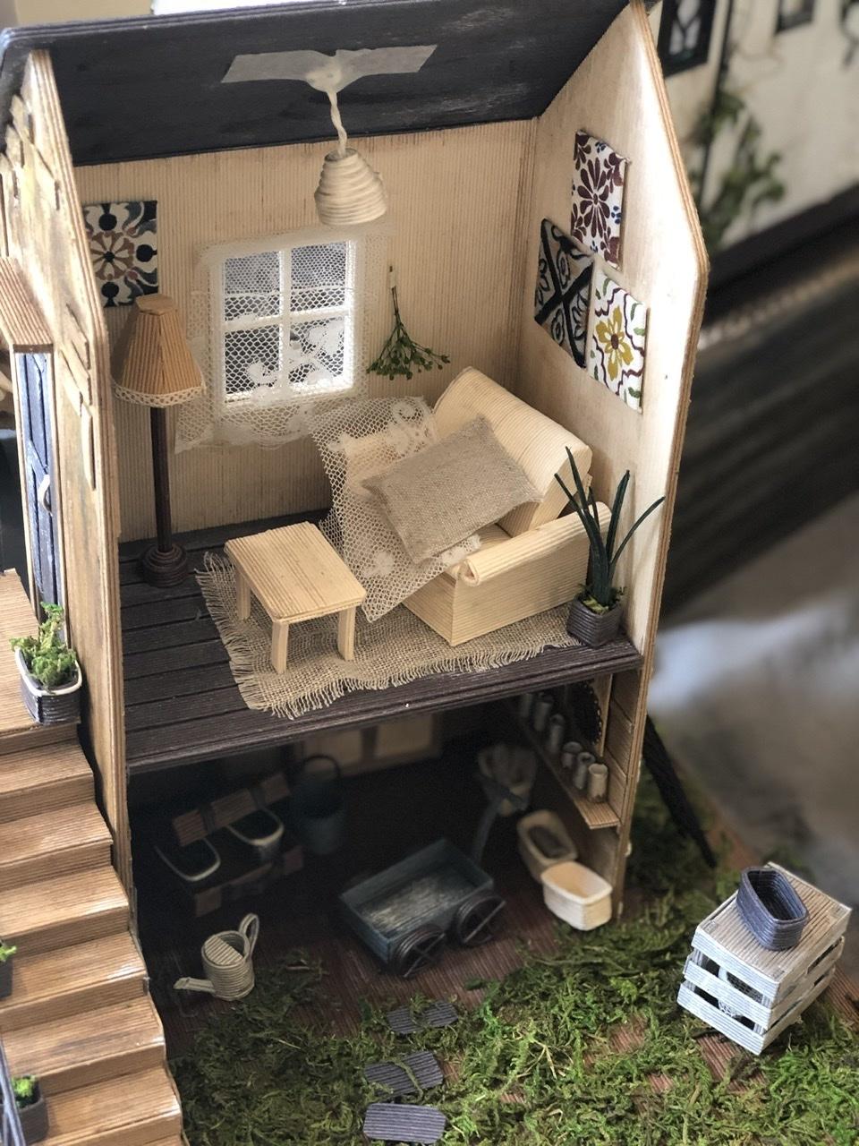 「こんなお家に住んでみたい♡」村田美穂ちゃんの「紙バントで楽しくミニチュアハウス」の出版記念作品展に行ってきました@表参道ギャラリーニイク_a0157409_14221931.jpeg