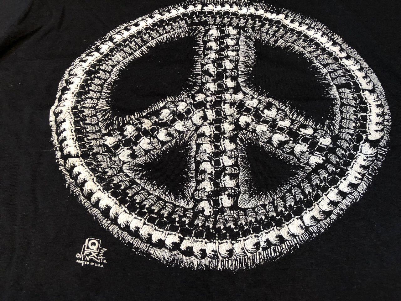 8月9日(月)入荷!80s スカル ピース プリント Tシャツ!_c0144020_17435123.jpg