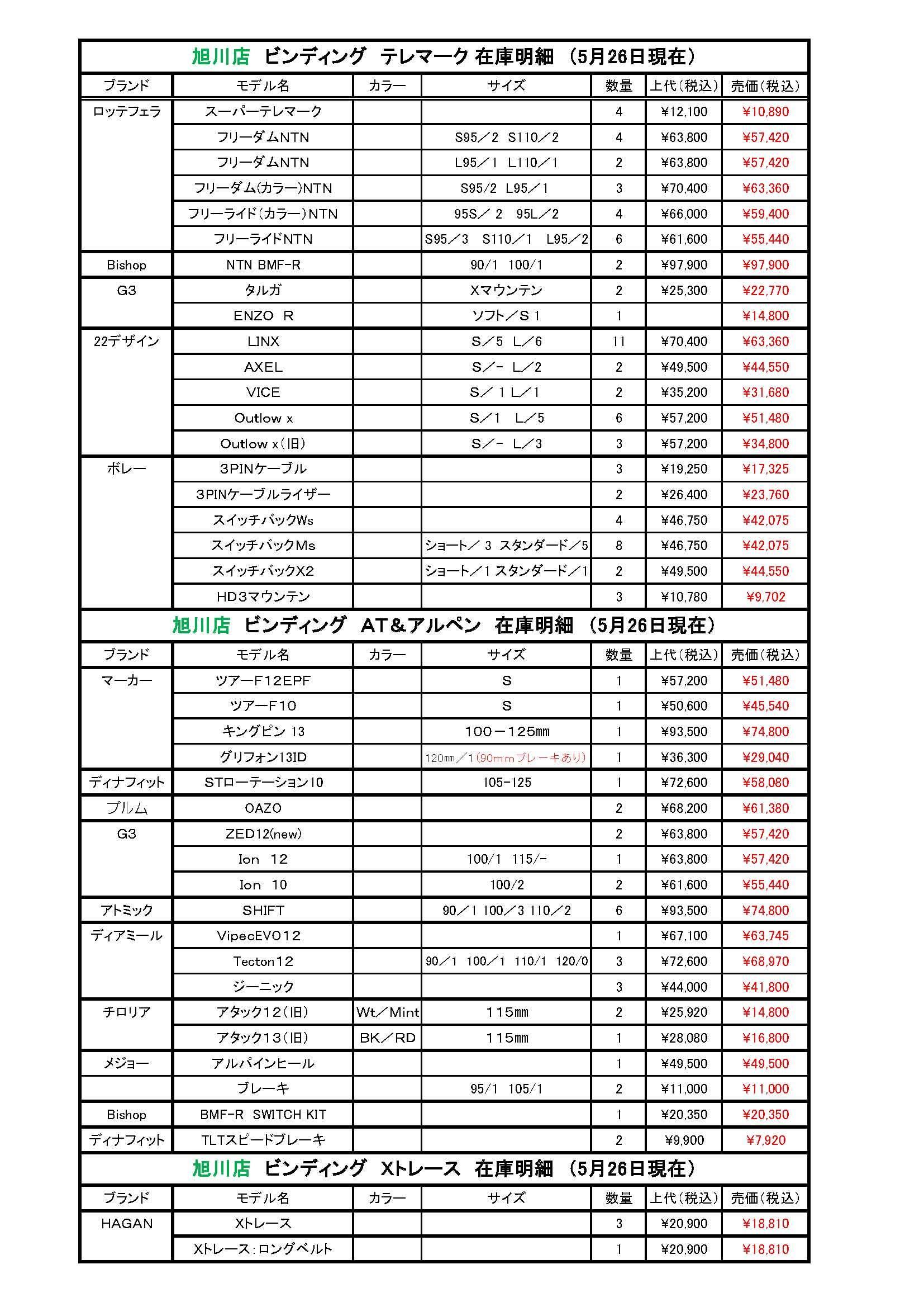 秀岳荘各店舗のスキー関係在庫状況です。_b0209862_16240438.jpg