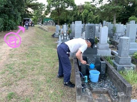 お墓の掃除♪_c0316026_20385579.jpg