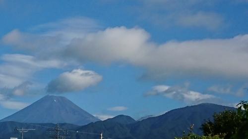 8月になって始めて見た綺麗な富士山です_d0390236_09180464.jpg