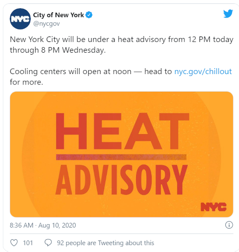 """今週、アメリカでも猛暑、""""Heat Advisory""""(ヒート・アドバイザリー)って何?_b0007805_05132800.jpg"""