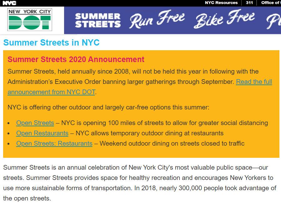 サマー・ストリート(Summer Streets in NYC)代わりに、今年はオープン・ストリート、オープン・レストラン等など_b0007805_22515522.jpg