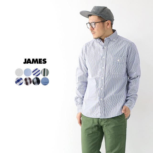 JAMES [ジェームス] STANDARD SHIRT 【Pujol】[JS101] スタンダードシャツ・プジョル・長袖シャツ・(DELICIOUS/STUDOI ORIBE)MEN\'S_f0051306_16034182.jpg