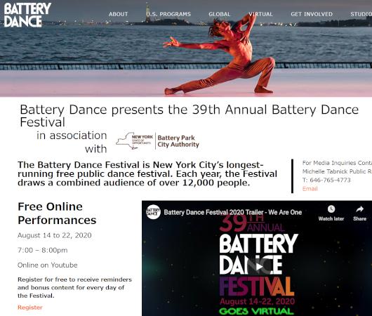今年は無料でオンライン視聴できちゃう、バッテリー・ダンス・フェスティバル(Battery Dance Festival)2020_b0007805_02254260.jpg