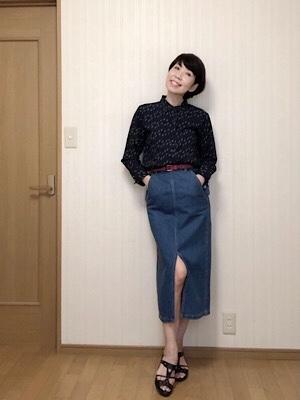 UNIQLOのレーヨンプリントブラウスを着てみました♡_f0249610_12592458.jpg