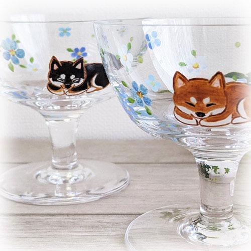 【新作】柴犬デザートグラス、完成しました♪_f0062790_15265676.jpg
