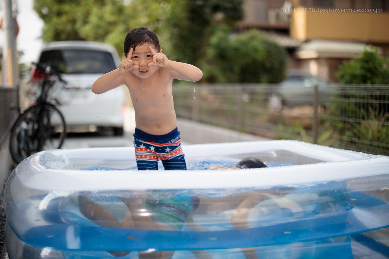 コロナ禍の夏休み お家でプール!_c0369219_07513248.jpg