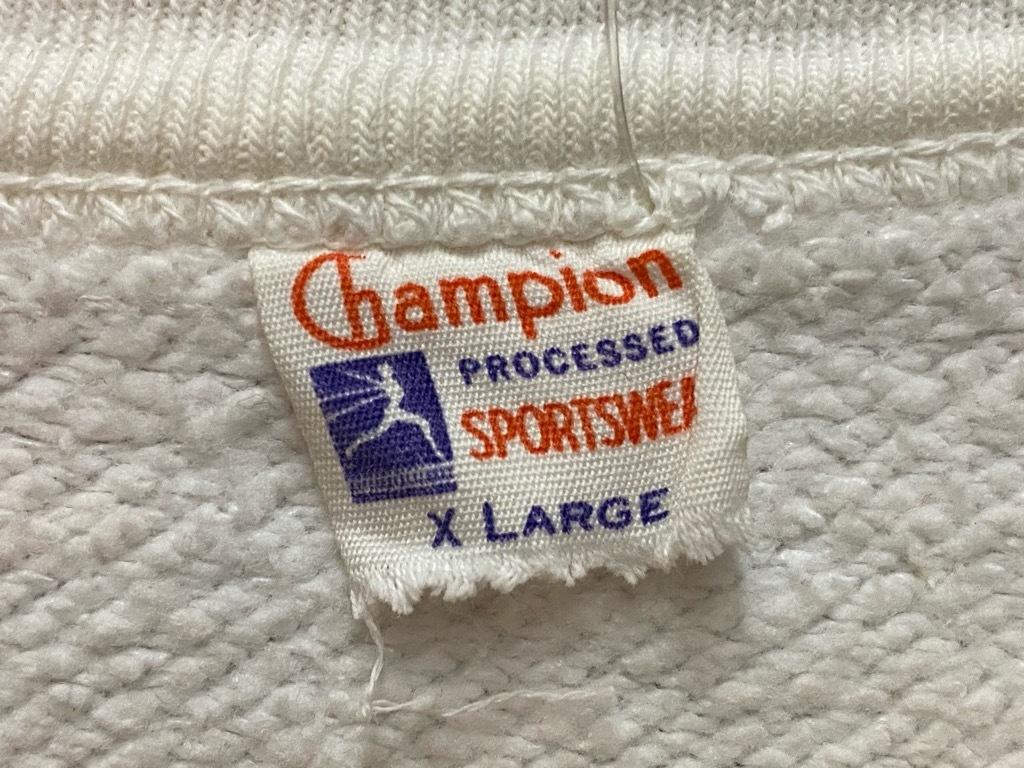 8月19日(水)マグネッツ大阪店秋物ヴィンテージ入荷日 #3 Vintage Sweat編!!Champion RunnersTag,SolidTag&Dr.Shock!!_c0078587_16485297.jpg